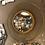 Thumbnail: Miroir soleil doré - diamètre 93 cm