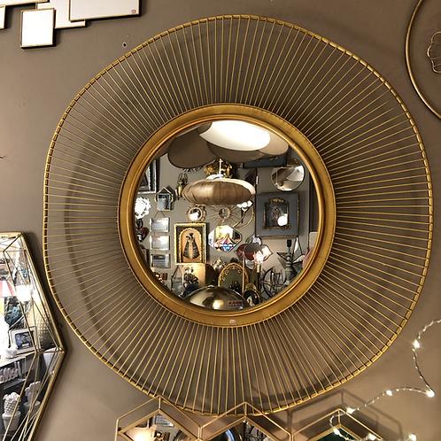 Miroir soleil doré - diamètre 93 cm