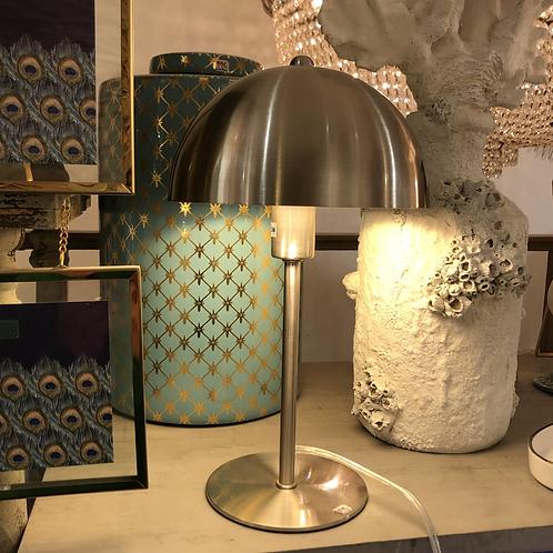 Lampe métal petit champignon - Argentée