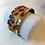 Thumbnail: Manchette 25 mm/finition dorée/GRANDE TAILLE -Les Georgettes