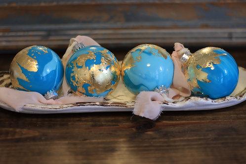 Custom 80mm glass ornaments