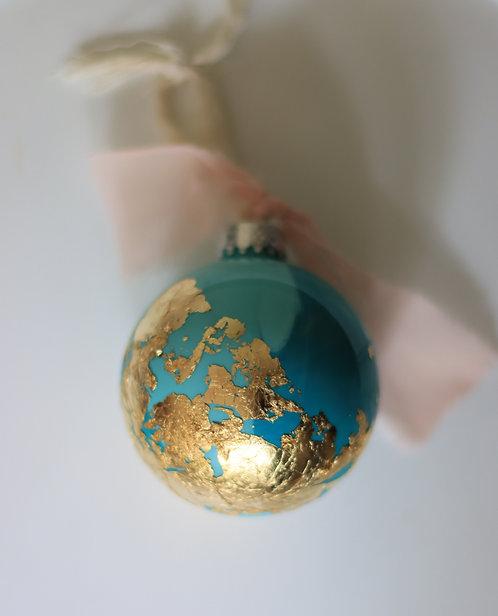 Gold Leaf 80mm Ornament