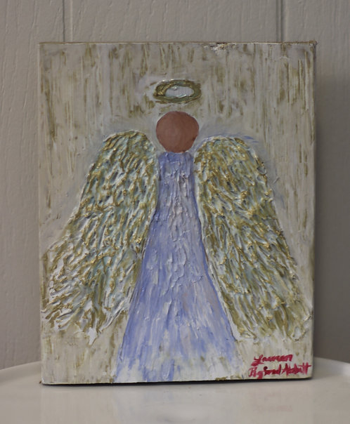 Small Angel Wings Painting on wood