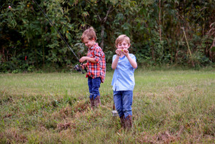 The Myers and their little fishermen