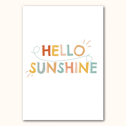 'HELLO SUNSHINE' print