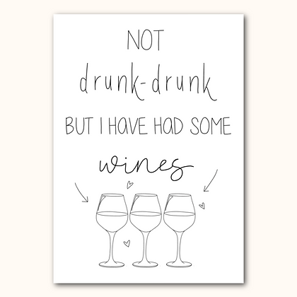 GAVIN AND STACEY- Not drunk-drunk print