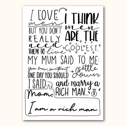 RICH MAN - Print