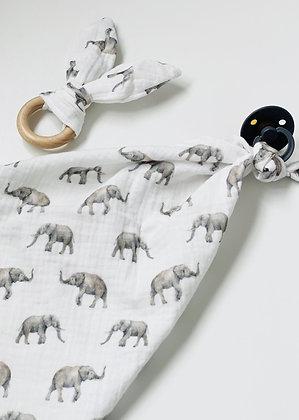 MINI MUSLIN SET - Elephants