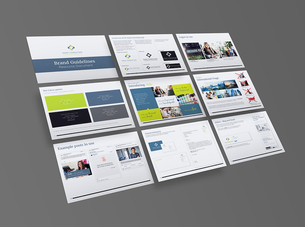 Expat Consulting Brand Guidelines Mockup