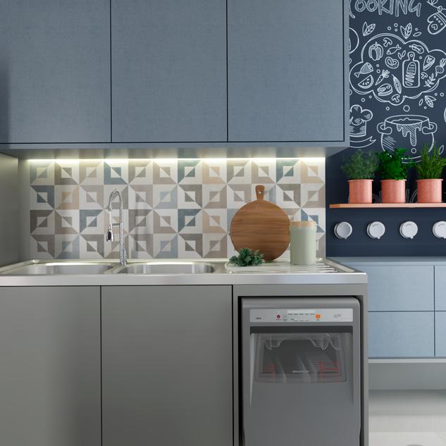 Cozinha contemporânea e aconchegante