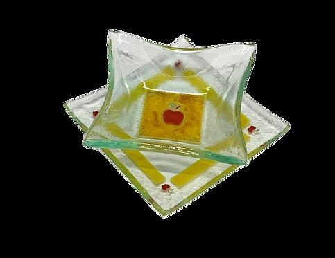 Conjunto 3 Pratos Rosh Hashanah