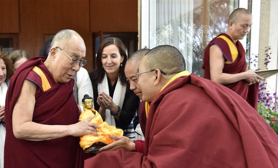 HH Dali Lama and Lama Tendar