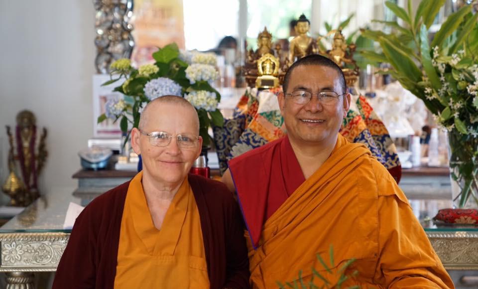 Lama Tendar and Ani Sonam