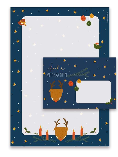 """Iloveyoulaugh - Briefpapier-Set """"Weihnachten"""""""