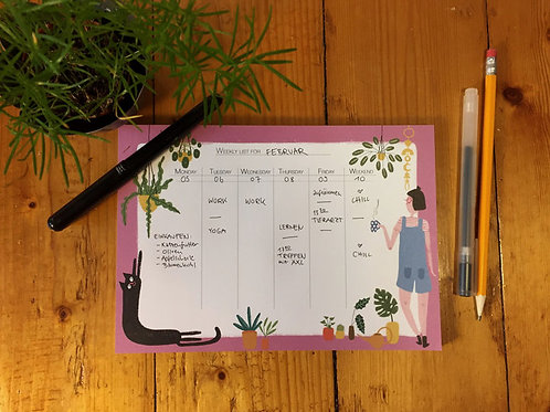 Slinga Illustration - Weekly List