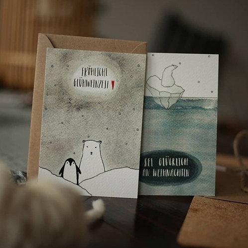 YETTI FRIENDS - Postkarten Winter