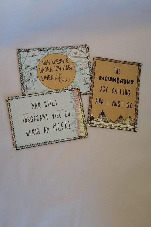 "Postkarten-Set ""Reisen"""