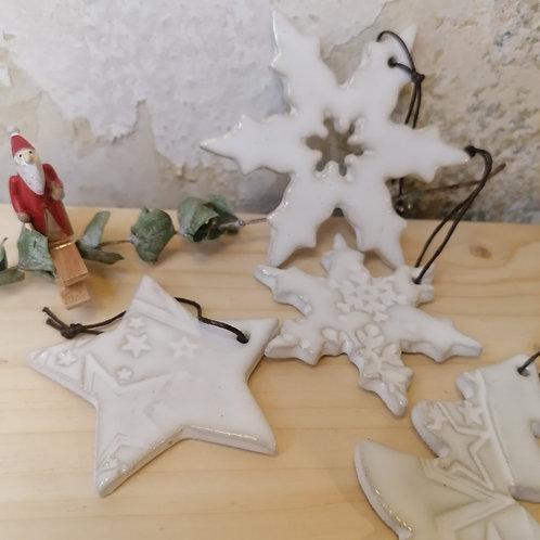 ZIEGLEREI - Weihnachtsbaumanhänger Keramik