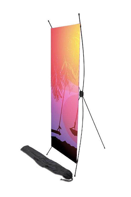 X banner con Gráfico en Sublimación .60 x 1.60 mts