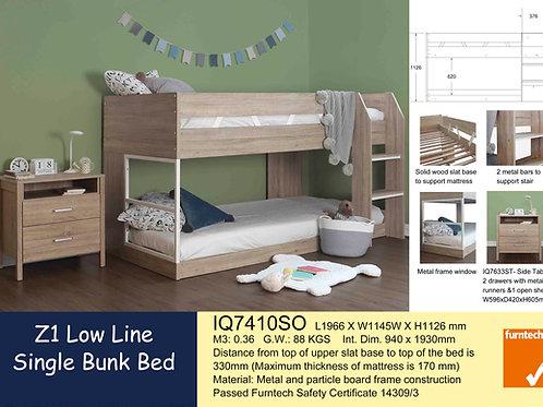 Kids Bunk Single Bed Frame Lowline