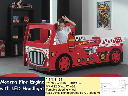 Kids Fire Truck Single Bed Frame