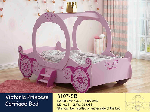 Kids Pink Single Bed Frame Victoria Princess