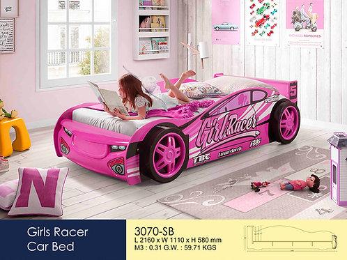 Kids Girl Racer Pink Single Bed Frame