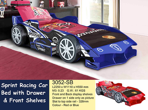 SUPER SPRING RACING CAR BED SINGLE