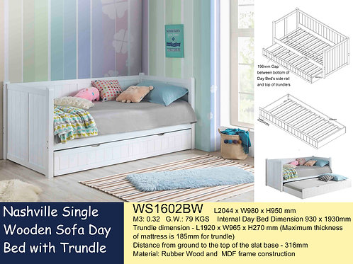 Kids Daybed Single Bed Frame with Trundle