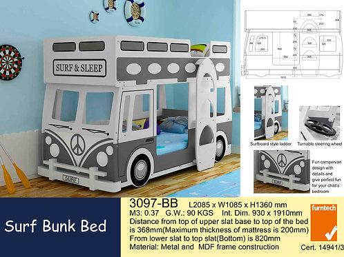 Kids Surf Bunk Single Bed Frame