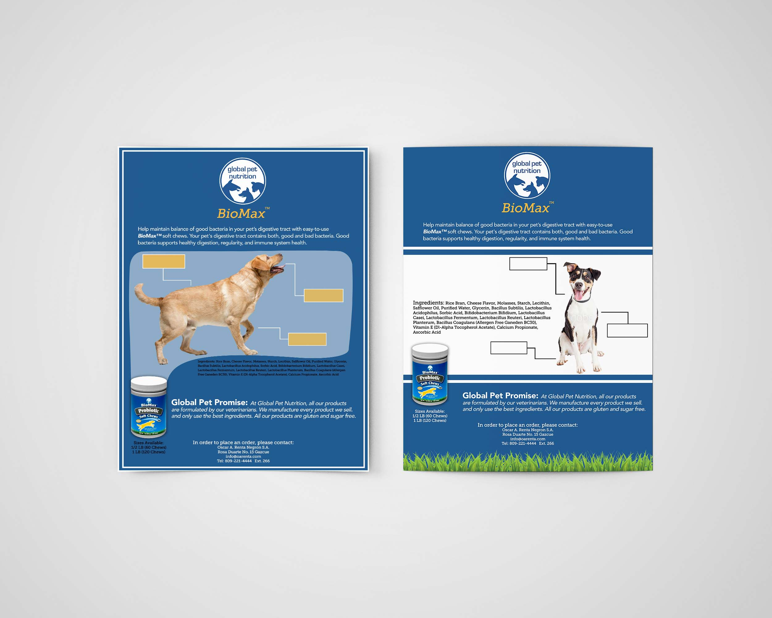 Global Pet Detail Sheets