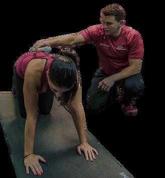 Dr. Ben Kores working with Patient.