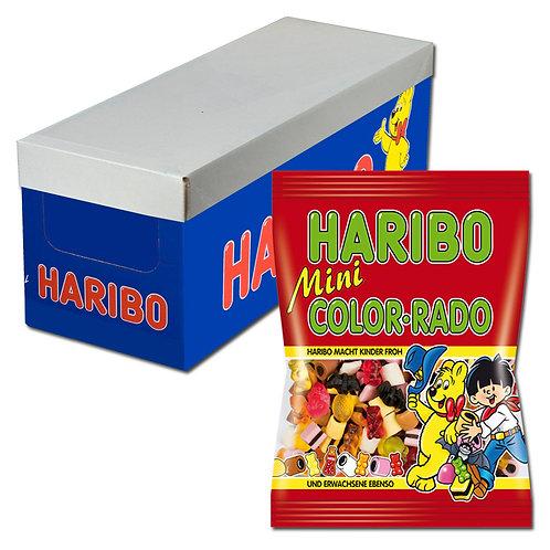 Haribo Mini Color-Rado Fruchtgummi Lakritz 175g 18 Btl