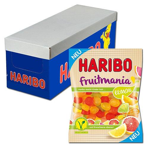 Haribo Fruitmania Lemon, Fruchtgummi, 16 Beutel je 175g