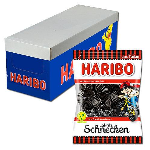 Haribo Lakritz-Schnecken, Rotella, 16 Beutel, 200g