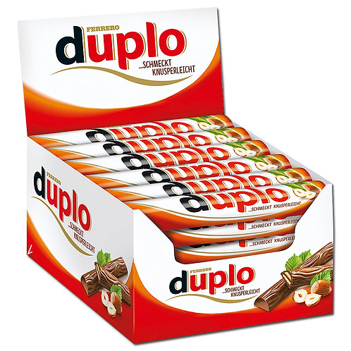 Ferrero Duplo, Riegel, Schokolade, 40 Riegel