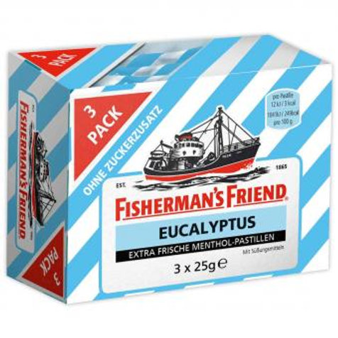 Fisherman's Friend Eucalyptus ohne Zucker 3x25g