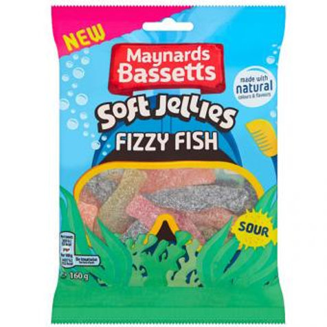 Maynards Bassetts Soft Jellies Fizzy Fish 160g