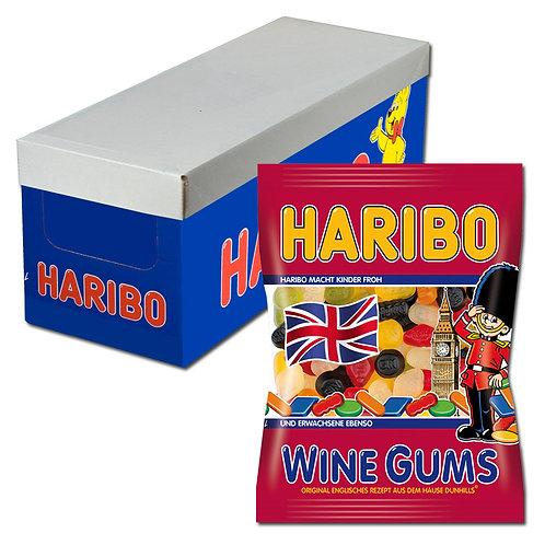 Haribo Wine Gums Fruchtgummi englisches Weingummi 20Btl 200g