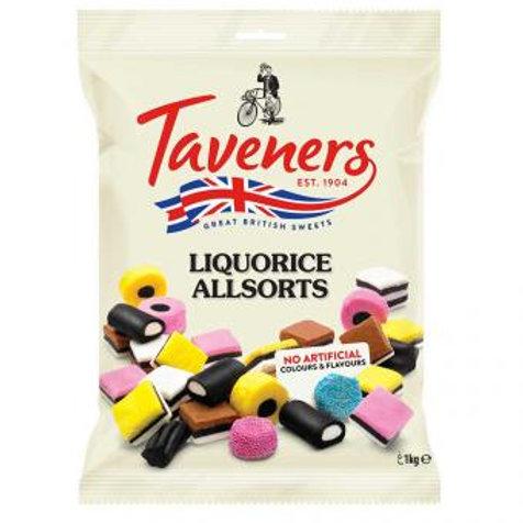 Taveners Liquorice Allsorts 1kg