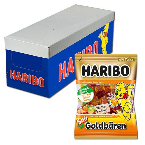 Haribo Saft-Goldbären, Fruchtgummi, 20 Beutel, 175g