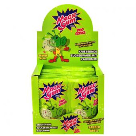 Magic Gum Pop Rocks Saurer Apfel 50pcs
