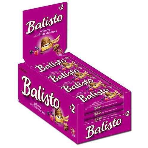 Balisto Joghurt-Beeren-Mix, Schokolade, 20 Doppelriegel je 37g