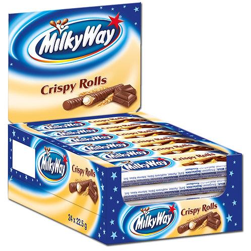 Milky Way Crispy Rolls, 24 Riegel