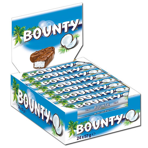 Bounty Riegel, Schokolade, 24 Riegel