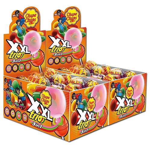 Chupa Chups XXL TRIO Lutscher Lollipop und Kaugummi, 50 Stück