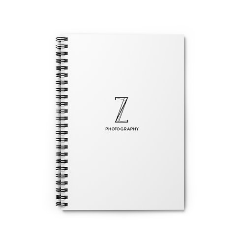 Z Photography White Spiral Notebook - Ruled Line
