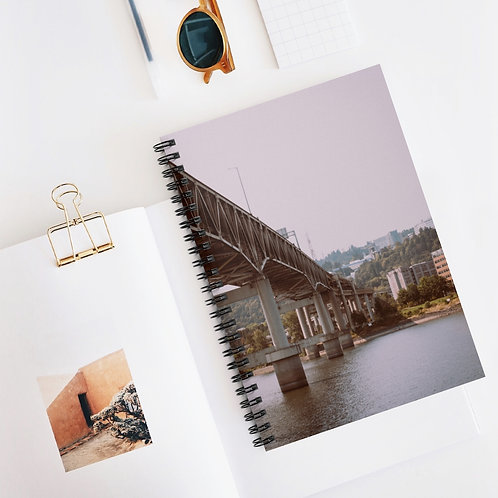 Retro Portland Spiral Notebook - Ruled Line