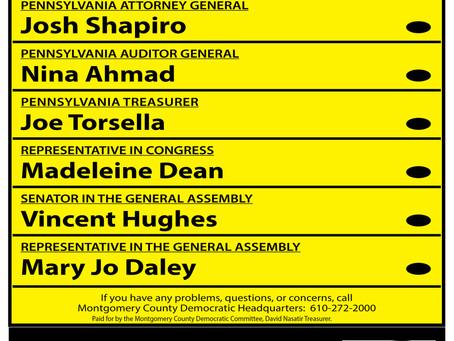 Sample ballots for Conshohocken, Plymouth and Whitemarsh