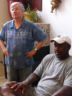 GAINES AND WILL ON SET.JPG